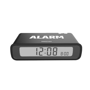 BALDR Travel Alarm Clock Modern Table Flip Clock for Bedroom kid battery operate