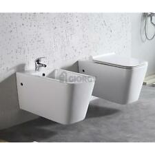 SET SANITARI SOSPESI FILO MURO MODERNO VASO BIDET COPROVASO SOFT CLOSE FISSAGGI