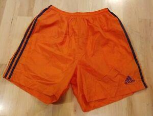 Adidas Men's Orange Blue Athletic Shorts Size L