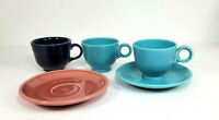Fiestaware HLO Genuine Saucers Cups Assorted Five Pieces USA Vintage