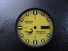 NEW MODIFIED YELLOW DIAL W/ BLACK CHAPTER RING FITS SEIKO 6309-7040 DIVERS WATCH