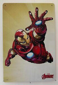 Iron Man Blechschild 30cm x 20cm Superheld Marvel Comics Retro Vintage Nostalgie