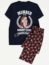 Disney Snow White/Grumpy Club Navy Cotton Pyjamas/Loungewear Size L