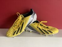 Adidas F50 Adizero FG  Football Boots - Yellow Size U.K. 12.5Excellent Condition