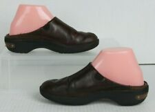 CROCS Cobbler 2.0 Brown Leather Clogs Slip On Mules Women Sz 7 Walking Shoes GUC