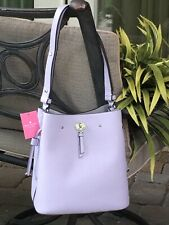 KATE SPADE MARTI LARGE BUCKET SHOULDER TOTE BAG LILAC FROZENLILA LEATHER $399