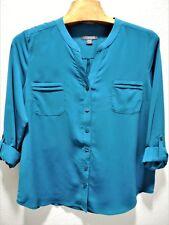 Womens Size XL Clothes Dark Teal Blouse Shirt Long Sleeves NWT $40 Covington