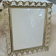 Vintage Photograph Frame  Brass Metal Cutout Design Table Top or Hang