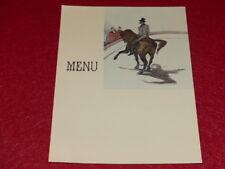Menu/Illustration Toulouse Lautrec Lovely Reprint Années 60 18x24 (27) Cavalier