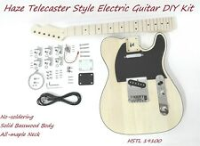 HSTL 19100 Complete No-Soldering Electric Guitar DIY Kit,SS,Solid Basswood Body