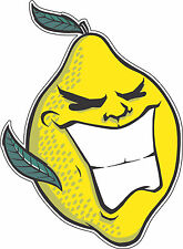 "Hooch Lemon   Alcohol Sticker - wall, window, vinyl sticker 5""x3.8"""