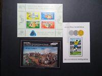 Brazil 9 Better Souvenir Sheets, Mint Hinged, Hinge Remnant, some NGAI - Z11141