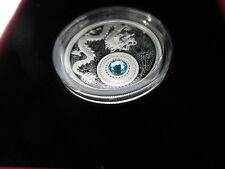Canada 99,99% Fine Silver Coin made with Swarovski® crystal – Birthstones: March