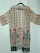 Simply Be Ladies Floral Kimono With Fringes Size 12 VGC