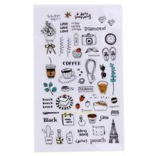1 Sheet Cartoon Diary Paper PVC Stickers DIY Album Decor Kids For Scrapbooking