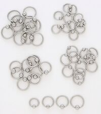 "Captive Bead Ring 16g  Eyebrow Tragus 3/8""  4MM Bead"