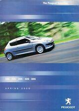 Peugeot Special Offers Spring 2000 UK Market Foldout Brochure 106 206 306 406