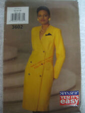 VTG Butterick 3602 DOUBLE BREASTED DRESS Sewing Pattern