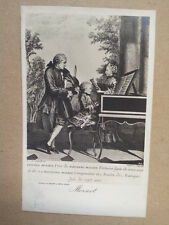 antique post card MOZART Family  Breitkopf & Haertel