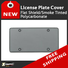 Flat Shield License Plate Cover - Smoke Tinted - Polycarbonate