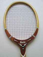 Vintage Davis Wood Tennis Racquet Collectible Grip Size 4 L Made In Usa
