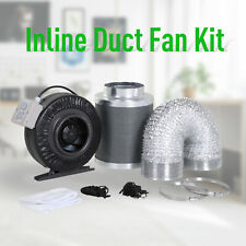 DURHAND 6 Inch Inline Fan Carbon Filter Duct Combo 2 Clamps Hydroponics Grow