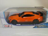 2020 FORD MUSTANG SHELBY GT500 - Orange 1/18 scale Maisto Special Edition - New