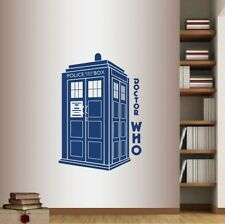 Wall Vinyl Decal  Doctor Who Phrase Words Tardis Police Box Wall Sticker 47