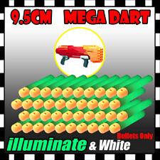 Bulk Lot illuminate Refill Foam Bullet Darts 9.5cm For Nerf Elite Mega Centurion