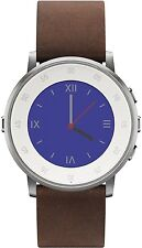 PEBBLE TIME SMARTWATCH MEN  APPLE/ANDROID DEVICES ROUND 20mm Silver BLUETOOTH
