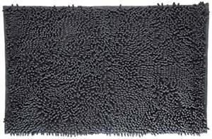 "Black Soft Microfiber Shag Bath Rug Mat Anti-Slip Machine Washable 20"" x 32"""