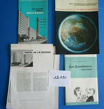 N°12220 / ericsson : lot de plaquettes et prospectus en francais 1965 Suède