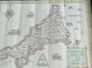 Domesday map of Cornwall