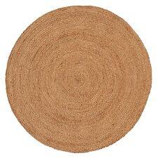 Natural Hand Woven Rigo Jute Round rug Round Flaw in Rug 01