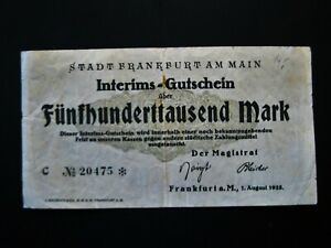 Frankfurt am Main  500.000 Mark  1923