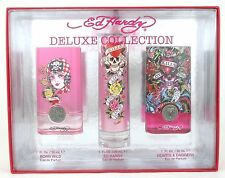 Ed Hardy Deluxe Collection 3 Pces Gift Set With All 1.0 Oz By Ed Hardy For Women