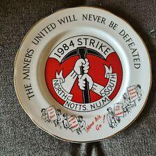 More details for 1984 nottinghamshire num miners  strike plate 1984 - rare