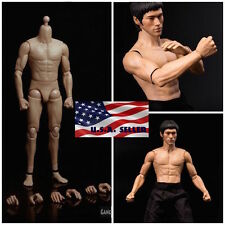 1/6 Muscular Male Figure Body GangHood G002 For Bruce Lee as Hot Toys DX04