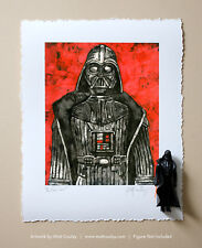 DARTH VADER Vintage Kenner Star Wars Action Figure ORIGINAL ART PRINT 3.75