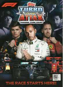 TOPPS F1 TURBO ATTAX COMPLETE 181 CARD SET & 1 LTD & ALBUM 2020