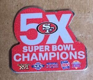 SAN FRANCISCO 49ers SUPERBOWL 5X CHAMPIONS PIN CHAMPS NFL SUPER BOWL 54 MONTANA