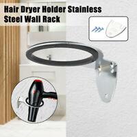 Hair Dryer Holder  Wall Rack Bathroom Salon Storage Stainless Steel Organizer