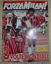 RIVISTA FORZA MILAN -12 DICEMBRE 1990 3 VOLTE MONDIALI SPECIALE CON POSTER (MIL)