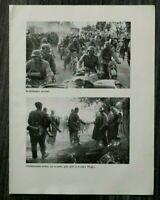 AQ) Blatt 2.WK 1940 Kradschützen Krad Motorrad Soldaten Jäger Rymanow Polen WWII