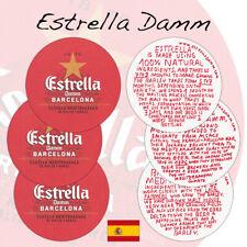 3 Estrella Damm Beer Mats Coasters Barcelona Spain   Unused (BS58)
