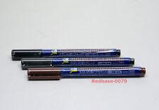 BANDAI GUNDAM MARKER PEN DETAIL LINER GM01 02 03 Combo Black Brown Grey