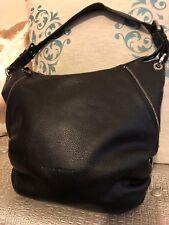 63e70ac51fd4 Coccinelle Black Medium Leather Side Zip Hobo Shoulder Bag