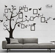 Extra Grande Negro Marco de fotos de familia árbol Pájaros Pegatinas De Pared Decoración Hogar
