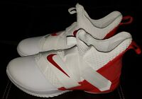 Nike Lebron James Soldier XII TB Promo White University Red Shoes Sz 16!