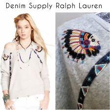 NEW! Denim & Supply Ralph Lauren Women's Sweatshirt SIZE SM Southwestern Cowboy